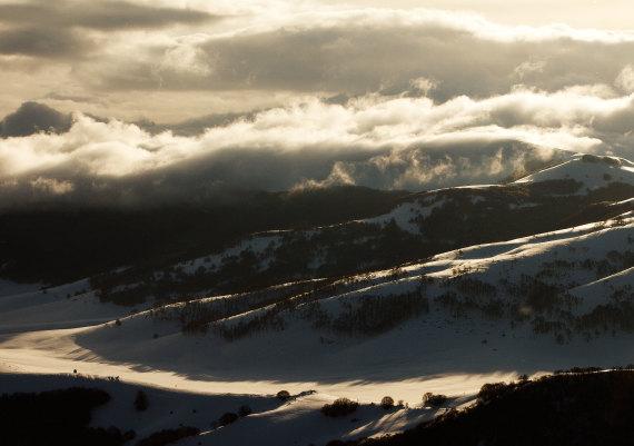 alba dalle vette dei Monti Sibillini