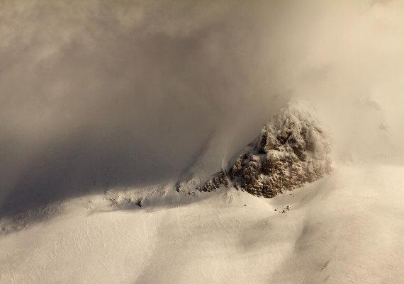 nebbia sulla cima del monte Vettore